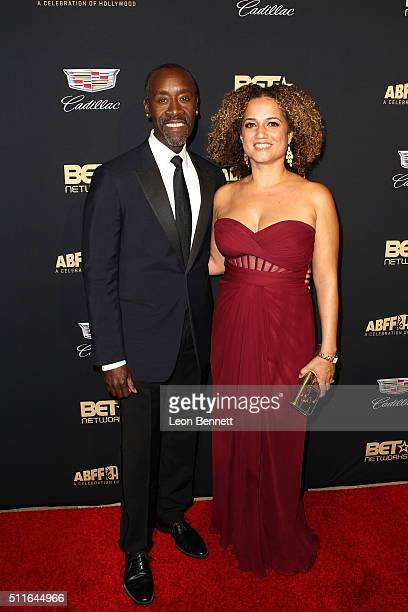 Actor Don Cheadle and Bridgid Coulter arrived to the 2016 American Black Film Festival Awards Gala Arrivals at The Beverly Hilton Hotel on February...