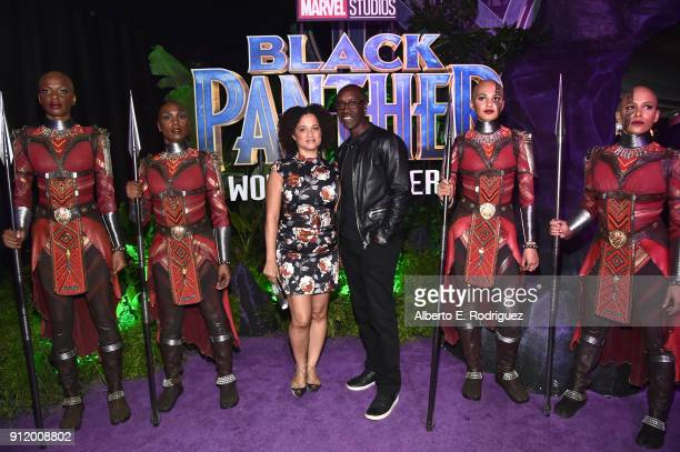 Actor Don Cheadle and Bridgid Coulter at the Los Angeles World Premiere of Marvel Studios' BLACK PANTHER at Dolby Theatre on January 29 2018 in...