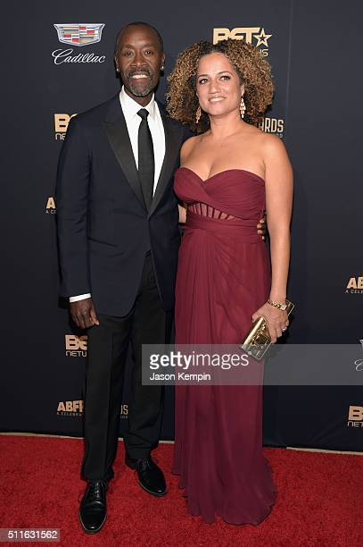 Actor Don Cheadle and Bridgid Coulter attend the 2016 ABFF Awards A Celebration Of Hollywood at The Beverly Hilton Hotel on February 21 2016 in...