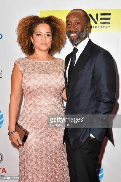 Actor Don Cheadle and Bridgid Coulter attend the 48th NAACP Image Awards at Pasadena Civic Auditorium on February 11 2017 in Pasadena California