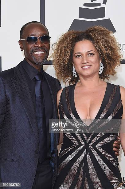 Actor Don Cheadle and Bridgid Coulter attend The 58th GRAMMY Awards at Staples Center on February 15 2016 in Los Angeles California