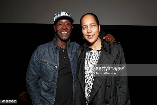 Actor Don Cheadle and director Gina PrinceBythewood attend the New York Times Magazine's Great Performers 2016 at NeueHouse Los Angeles on December 8...