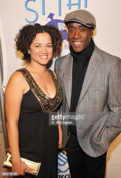 Actor Don Cheadle and his wife Bridgette Cheadle attend The Dream Believe Achieve Inspiration Gala at the Ahmanson Ballroom on October 21 2008 in Los...