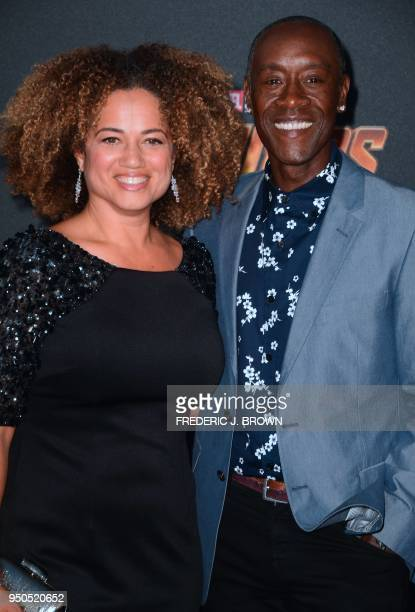 Actor Don Cheadle and his wife Brigid Coulter arrives for the World Premiere of the film 'Avengers Infinity War' in Hollywood California on April 23...