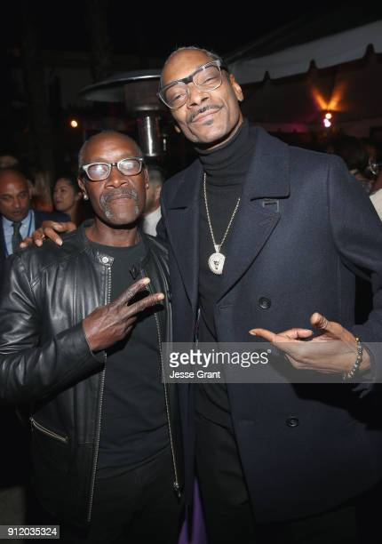 Actor Don Cheadle and rapper Snoop Dogg at the Los Angeles World Premiere of Marvel Studios' BLACK PANTHER at Dolby Theatre on January 29 2018 in...