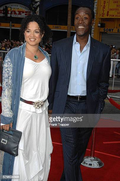 Actor Don Cheadle and wife arrive at the premiere of Oceans 13 held at Grauman's Chinese Theater in Hollywood