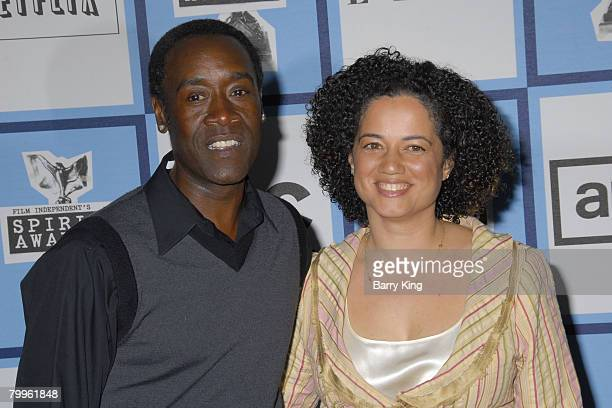 Actor Don Cheadle and wife Bridgid Coulter arrive at the 2008 Film Independent's Spirit Awards at the Santa Monica Beach on February 23 2008 in Santa...