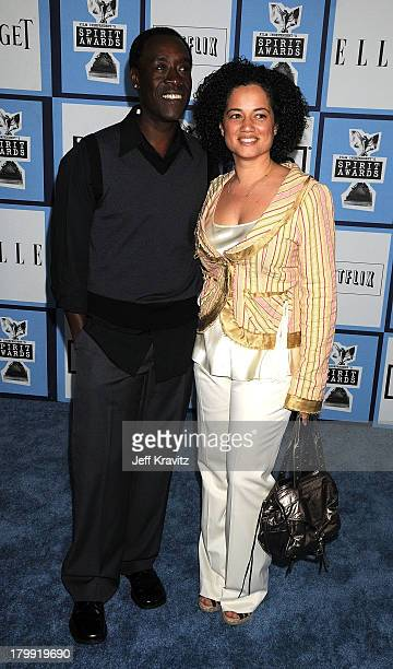 Actor Don Cheadle and wife Bridgid Coulter arrive at the 2008 Independent Spirit Awards at the Santa Monica Pier on February 23 2008 in Santa Monica...