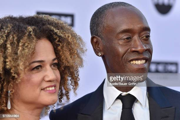 Actor Don Cheadle and wife Bridgid Coulter arrive at the American Film Institute's 46th Life Achievement Award Gala Tribute to George Clooney on June...