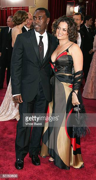 Actor Don Cheadle and wife Bridgid Coulter arrives the 77th Annual Academy Awards at the Kodak Theater on February 27 2005 in Hollywood California