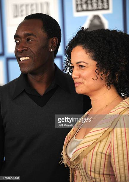 Actor Don Cheadle and wife Bridgid Coulter arrivre at the 2008 Independent Spirit Awards at the Santa Monica Pier on February 23 2008 in Santa Monica...
