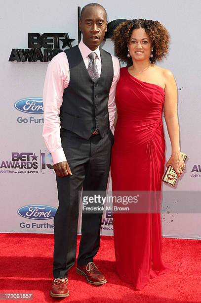 Actor Don Cheadle and wife Bridgid Coulter attend the 2013 BET Awards at Nokia Theatre LA Live on June 30 2013 in Los Angeles California