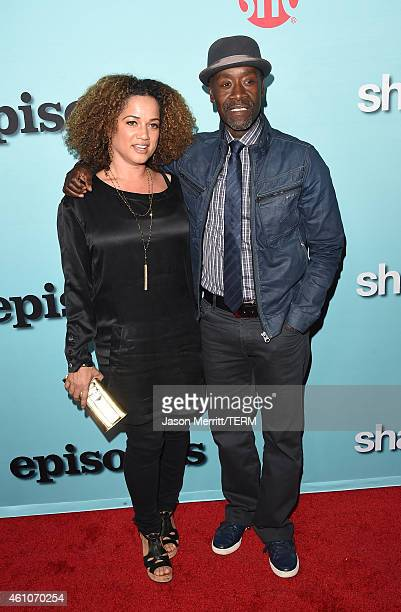Actor Don Cheadle and wife Bridgid Coulter attends the Showtime celebration of the allnew seasons of Shameless House Of Lies And Episodes at...