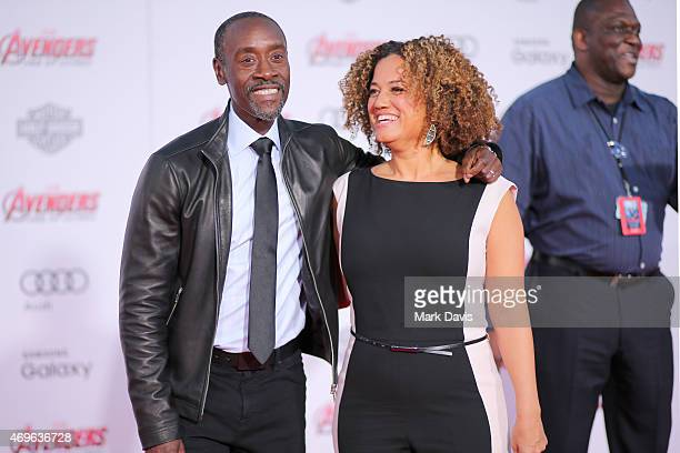Actor Don Cheadle and wife Bridgid Coulture attends the premiere of Marvel's Avengers Age Of Ultron at Dolby Theatre on April 13 2015 in Hollywood...
