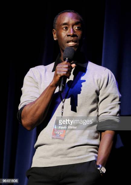 Actor Don Cheadle appears onstage at Help Haiti with George Lopez Friends at LA Live's Nokia Theater on February 4 2010 in Los Angeles California
