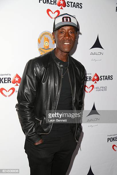 Actor Don Cheadle arrive at the Los Angeles Police Memorial Foundation Celebrity Poker Tournament Party Arrivals at Avalon Hollywood on November 19...