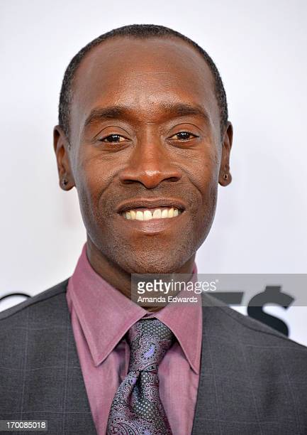 Actor Don Cheadle arrives at a special Los Angeles screening of Hou$e Of Lie$ at Leonard H Goldenson Theatre on June 6 2013 in North Hollywood...