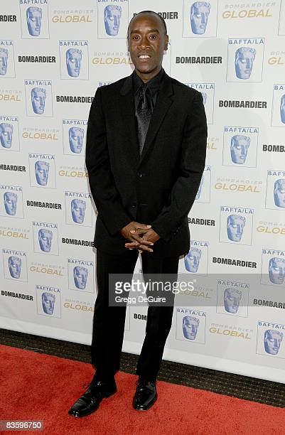 Actor Don Cheadle arrives at the 17th Annual BAFTA/LA Britannia Awards at the Hyatt Regency Century Plaza Hotel on November 6 2008 in Century City...
