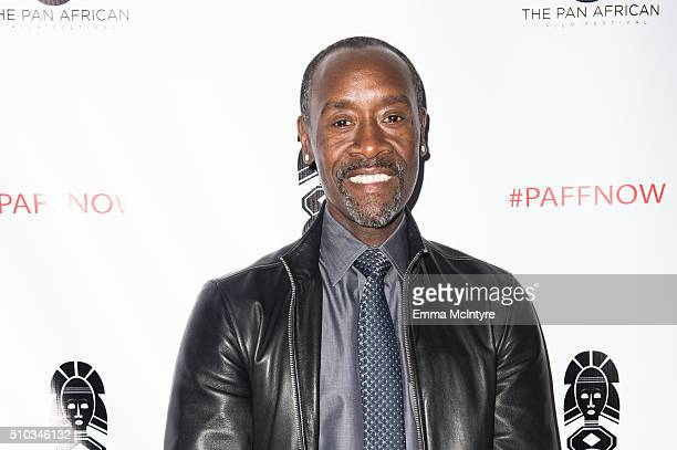 Actor Don Cheadle arrives at the 2016 Pan African Film and Arts Festival closing night premiere of 'Miles Ahead' at Rave Cinemas Baldwin Hills 15 on...
