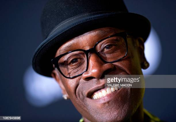 Actor Don Cheadle arrives for the premiere of the new Showtime comedy series Black Monday in Los Angeles on January 14 2019