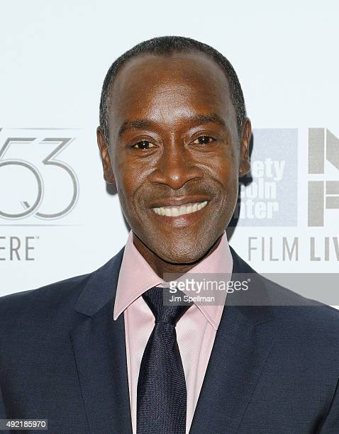 Actor Don Cheadle attends the 53rd New York Film Festival closing night gala presentation and premiere of 'Miles Ahead' at Alice Tully Hall on...