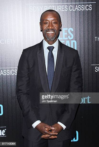 Actor Don Cheadle attends The Cinema Society with Ketel One and Robb Report host a screening of Sony Pictures Classics' 'Miles Ahead' at Metrograph...