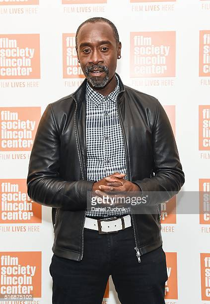 Actor Don Cheadle attends the In Converstion with Don Cheadle at The Film Society of Lincoln Center on March 21 2016 in New York City