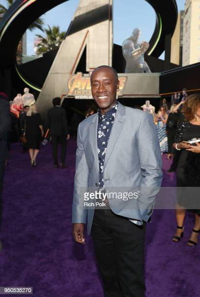 Actor Don Cheadle attends the Los Angeles Global Premiere for Marvel Studios' Avengers Infinity War on April 23 2018 in Hollywood California