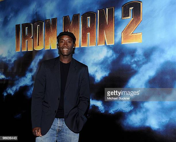 Actor Don Cheadle attends the photo call for Paramount Picture's and Marvel Entertainment's Iron Man 2 at the Four Seasons Beverly Hills on April 23...