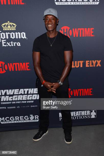 Actor Don Cheadle attends the Showtime WME IME and Mayweather Promotions VIP PreFight party for Mayweather vs McGregor at TMobile Arena on August 26...