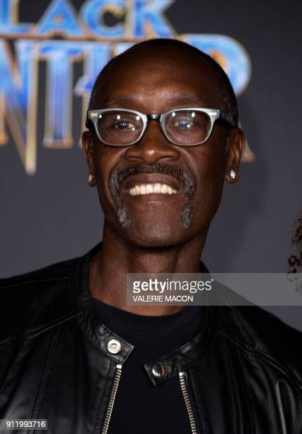 Actor Don Cheadle attends the world premiere of Marvel Studios Black Panther, on January 29 in Hollywood, California. / AFP PHOTO / VALERIE MACON