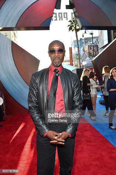 Actor Don Cheadle attends The World Premiere of Marvel's 'Captain America Civil War' at Dolby Theatre on April 12 2016 in Los Angeles California