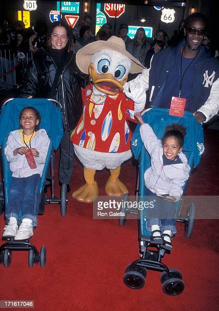 Actor Don Cheadle girlfriend Bridgid Coulter and children Imani and Ayana Cheadle attend the Disney's California Adventure Park Grand Opening...