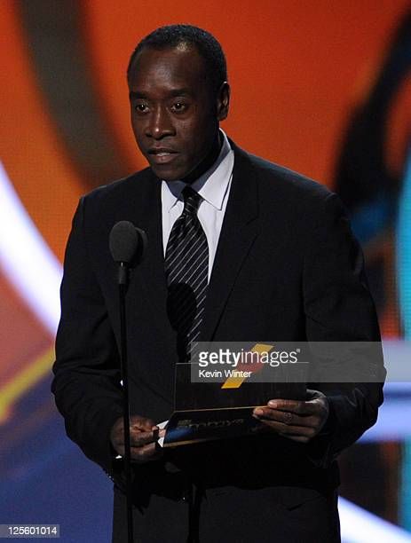 Actor Don Cheadle speaks onstage during the 63rd Annual Primetime Emmy Awards held at Nokia Theatre LA LIVE on September 18 2011 in Los Angeles...