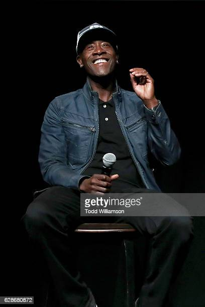 Actor Don Cheadle speaks onstage during the New York Times Magazine's Great Performers 2016 at NeueHouse Los Angeles on December 8 2016 in Hollywood...