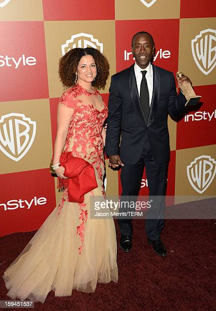 Actor Don Cheadle winner of Best Actor in a Television Series for 'House of Lies' and guest attend the 14th Annual Warner Bros And InStyle Golden...