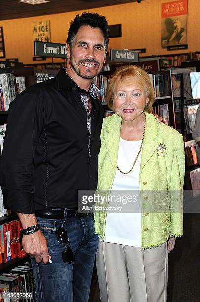 Actor Don Diamont and author Lee Phillip Bell attend the book signing of The Young And The Restless Life Of William J Bell by Lee Phillip Bell and...