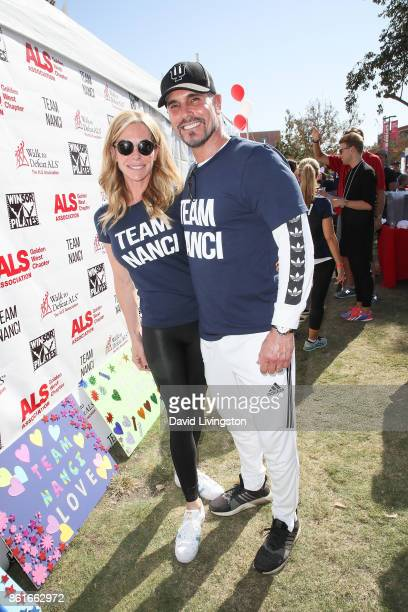 Actor Don Diamont and Cindy Ambuehl attend Nanci Ryder's Team Nanci at the 15th Annual LA County Walk to Defeat ALS at the Exposition Park on October...