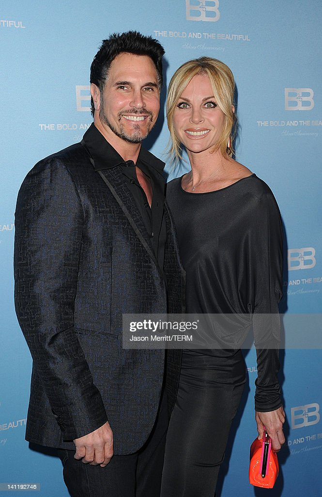 Actor Don Diamont and wife Cindy Ambuehl attend the 5th Silver Anniversary party for CBS' 'The Bold And The Beautifu on March 10, 2012 in Los Angeles, California.
