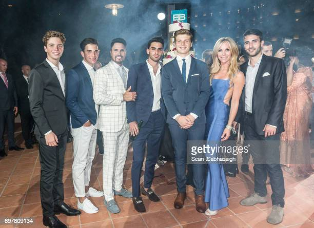 Actor Don Diamont and wife Cindy Ambuehl pose with their family at the 'The Bold and The Beautiful' 30th Anniversary Party during the 57th Monte...
