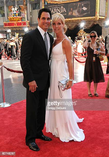 Actor Don Diamont and wife Rachel Braun arrives at the 35th Annual Daytime Emmy Awards at the Kodak Theatre on June 20 2008 in Los Angeles California