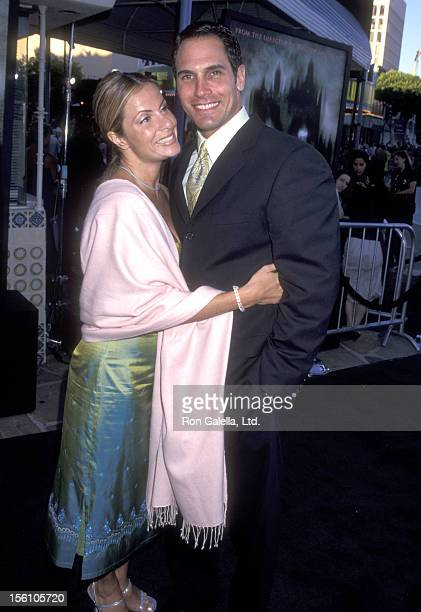 Actor Don Diamont and wife Rachel Braun attend 'The Haunting' Westwood Premiere on July 20 1999 at Mann Village Theatre in Westwood California