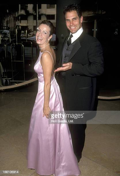 Actor Don Diamont and wife Rachel Braun attend the John Wayne Cancer Institute at St John's Health Center's 14th Annual Odyssey Ball on April 10 1999...