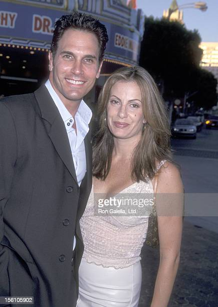 Actor Don Diamont and wife Rachel Braun attend the 'Legally Blonde' Westwood Premiere on June 26 2001 at Mann Village Theatre in Westwood California