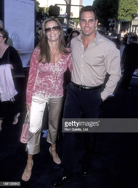 Actor Don Diamont and wife Rachel Braun attend the 'What Lies Beneath' Westwood Premiere on July 18 2000 at Mann Village Theatre in Westwood...