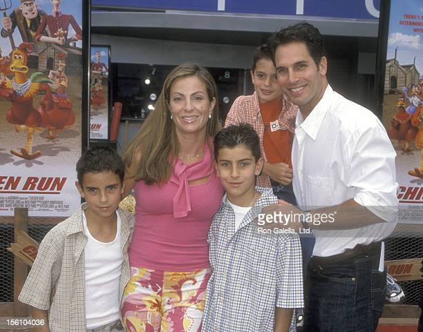 Actor Don Diamont wife Rachel Braun and kids attend the 'Chicken Run' Universal City Premiere on June 17 2000 at Loews Cineplex Odeon Universal City...