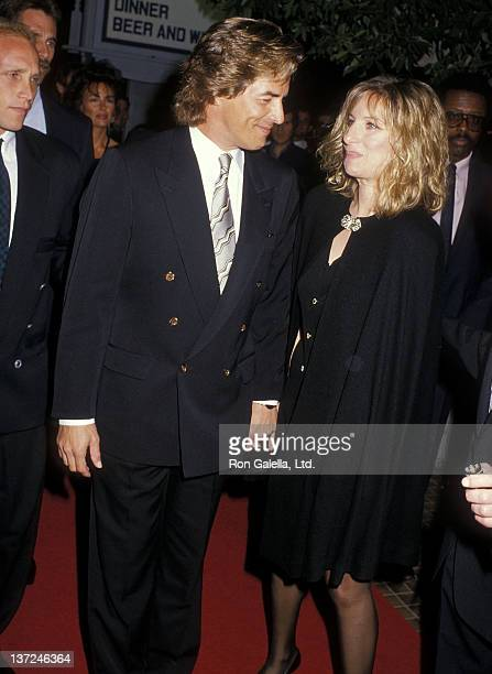 """Actor Don Johnson and actres/singer Barbra Streisand attend the """"Sweet Hearts Dance"""" Westwood Premiere and After Party on September 18, 1988 at the..."""