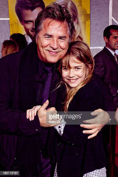 Actor Don Johnson and daughter Atherton Grace Johnson attend the world premiere of Touchstone Pictures' 'When in Rome' held at the El Capitan Theater...