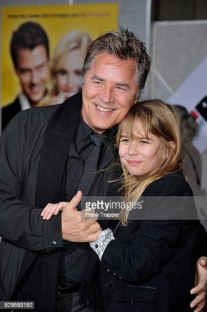 """Actor Don Johnson and daughter attend the premiere of """"When In Rome"""" held at the El Capitan Theater in Hollywood."""