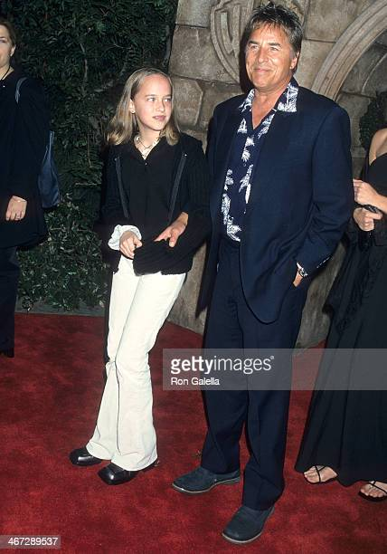 Actor Don Johnson and daughter Dakota Johnson attend the Harry Potter and the Sorcerer's Stone Westwood Premiere on November 14 2001 at the Mann...